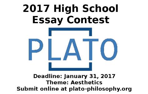 Plato 2017 Essay Contest With Deadline Plato Philosophy Learning